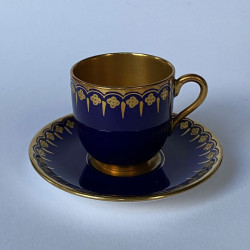 Coalport Porcelain Demitasse Cup and  Saucer