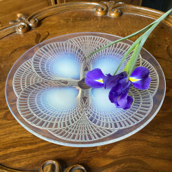Rene Lalique Opalescent and Clear Glass...