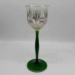 Theresienthal Enameld Wine Glass, Decorated...