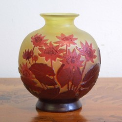Emile Galle Cameo Glass Vase Decorated with...