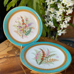 A Pair Royal Worcester Porcelain Hand-Painted...