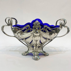 Art Nouveau WMF Pewter Fairy Centre Piece  with...
