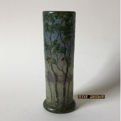 Daum Nancy Vitrified and Enameled Glass Vase (c.1902)