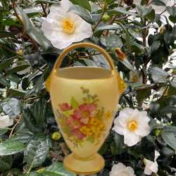 Royal Worcester Porcelain Posy Basket Vase...