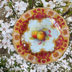 Royal Worcester Porcelain Hand Painted Apples...
