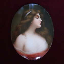 KPM Berlin Porcelain Plaque of the Maiden. Late 19th Century