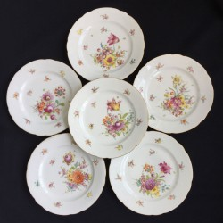 Dresden porcelain set of 6 dessert plates