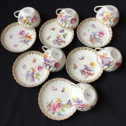 Nymphenburg Porcelain Set of Six Cups and...
